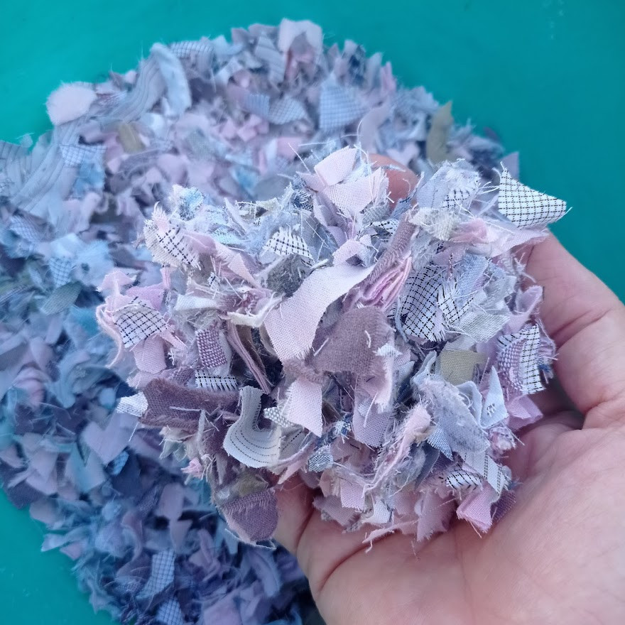 Scraps for fabric beads