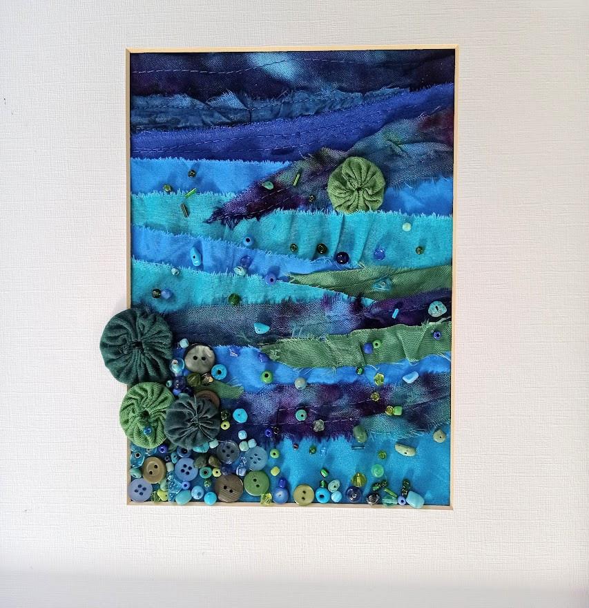Painted fabric landscape