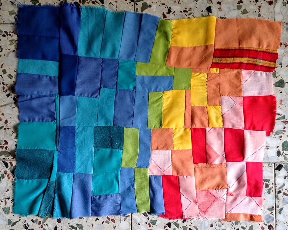Crumb patchwork piece