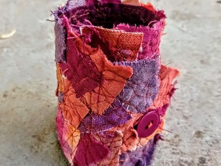 Fabric Art Cuff