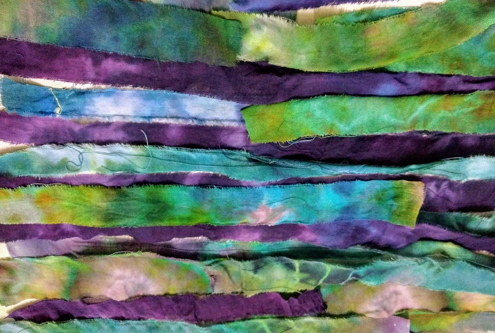 Tie dyed strips