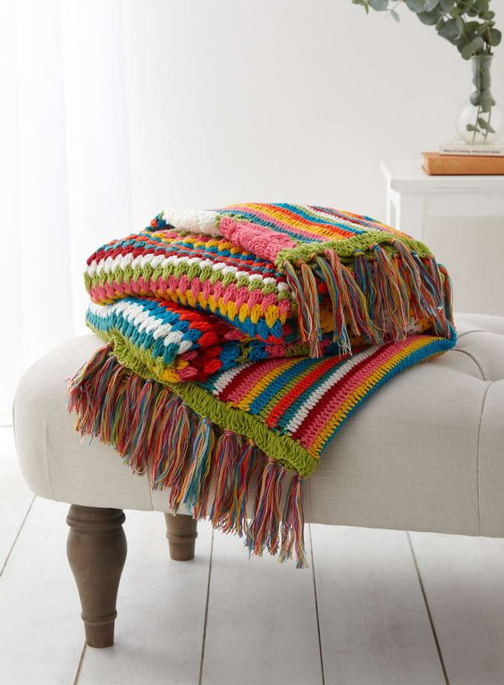 Strip Crochet Afghan