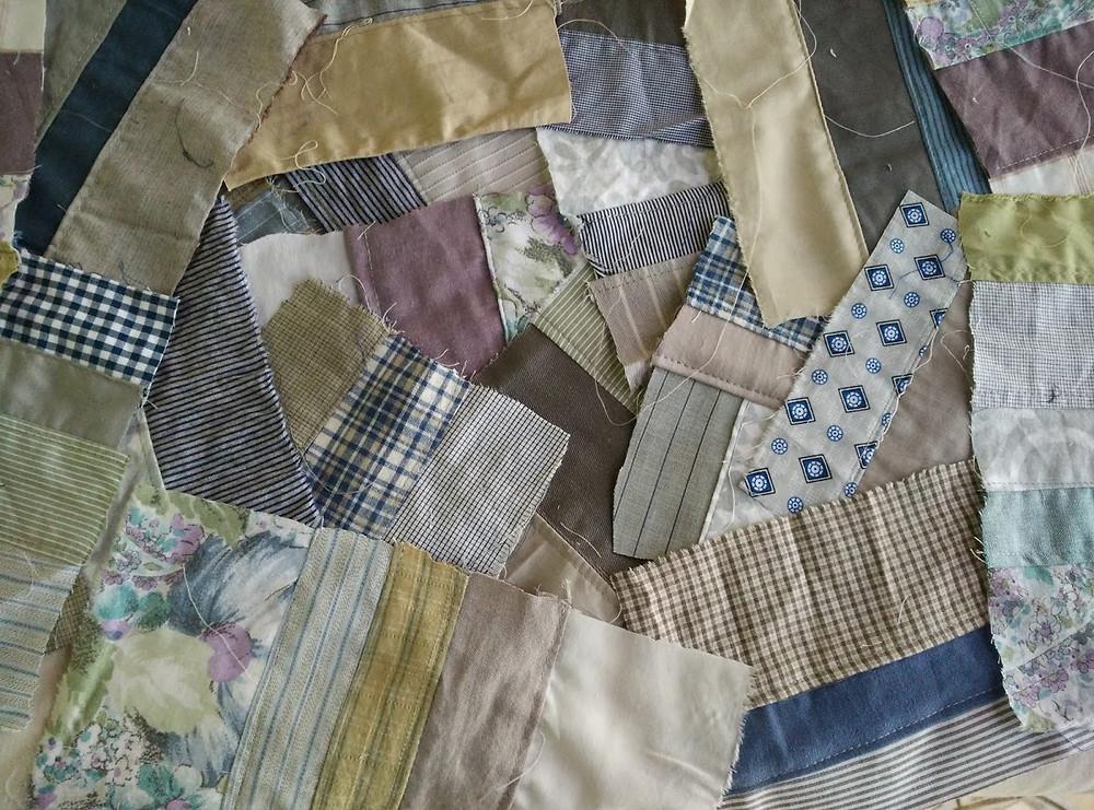Winter crumb patchwork pieces