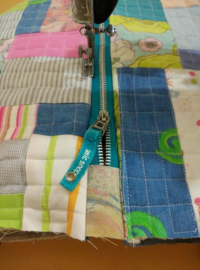 Top stitch zipper seams