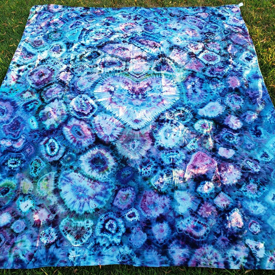 Tie dyed tapestry