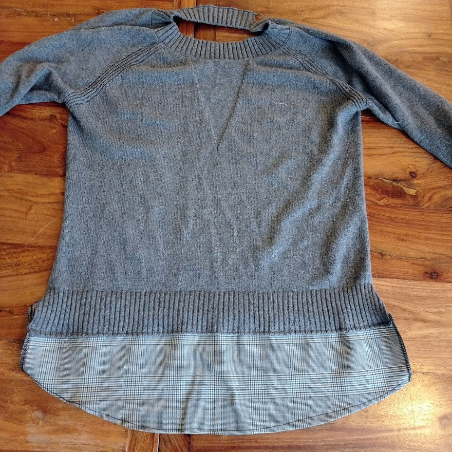 Front part of shirt with panel