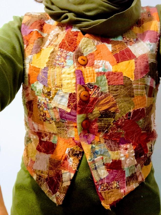 Mosaic patchwork vest