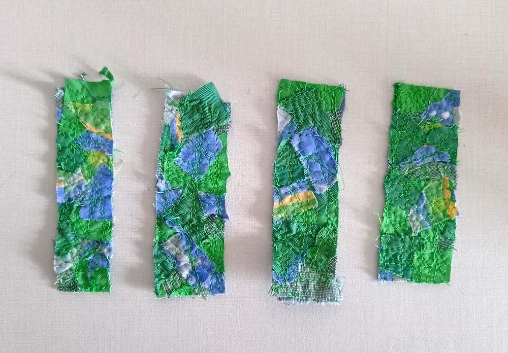 Mosaic patchwork strips