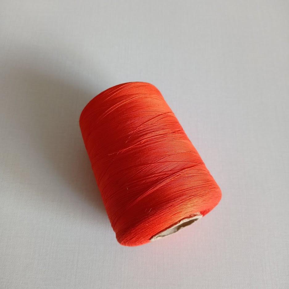 Bright orange thread