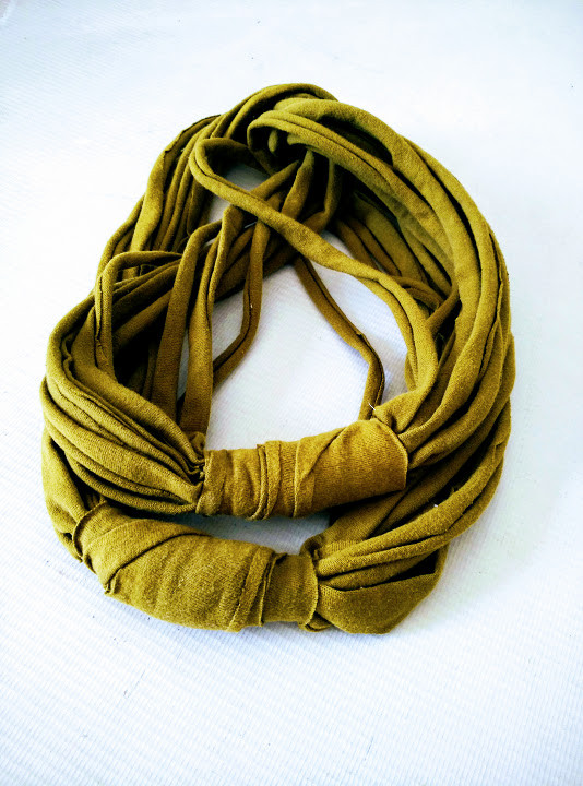 Wrapped t shirt infinity scarf