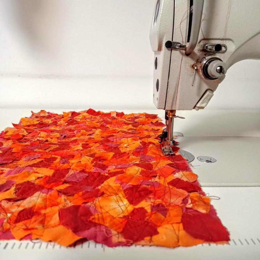 Mosaic mini patchwork quilt