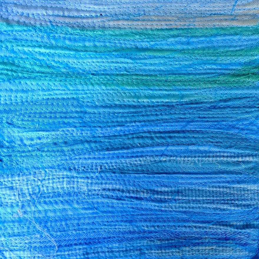 Textured landscape quilt