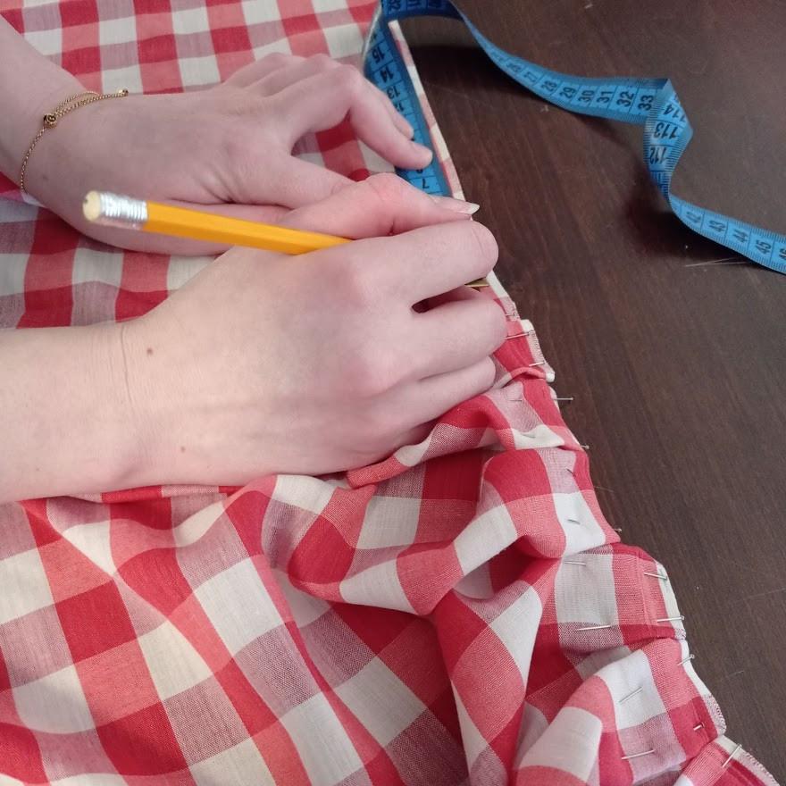 Planning box pleats