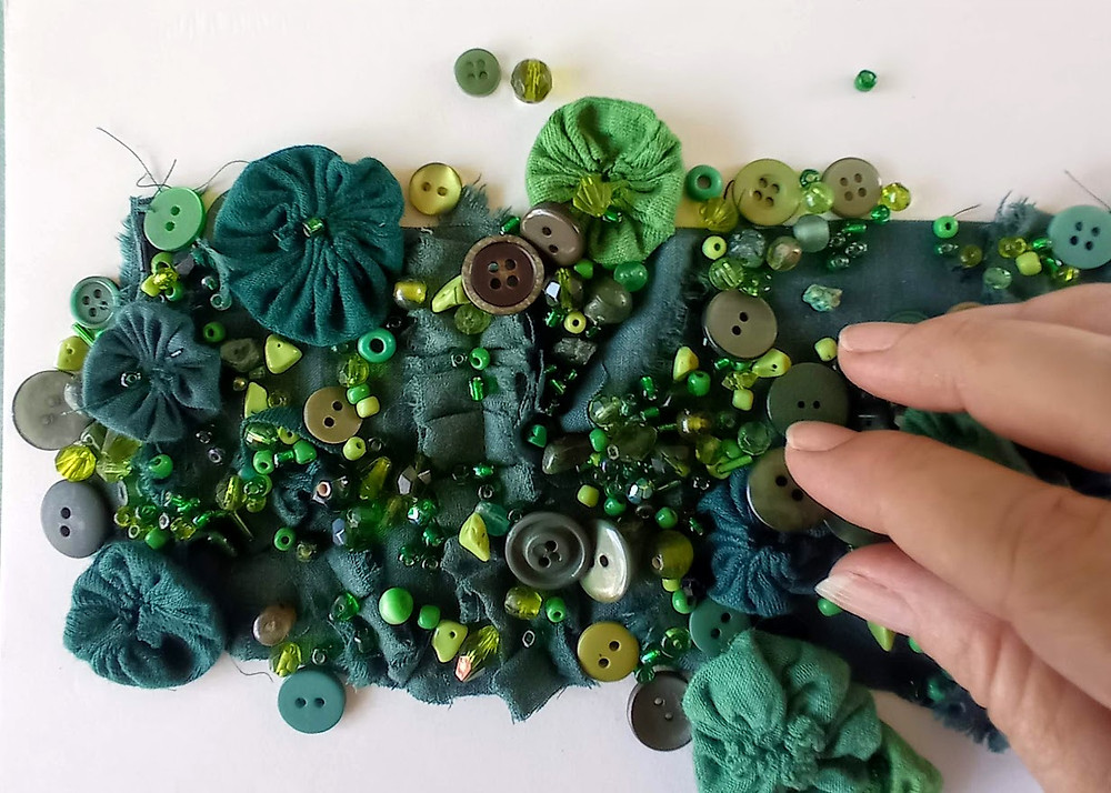 Embellishing with beads