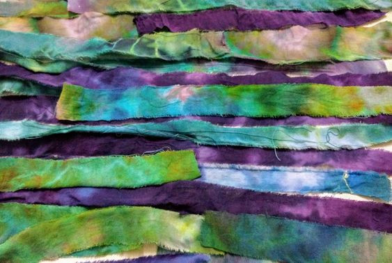 Tie dyed remnant strips
