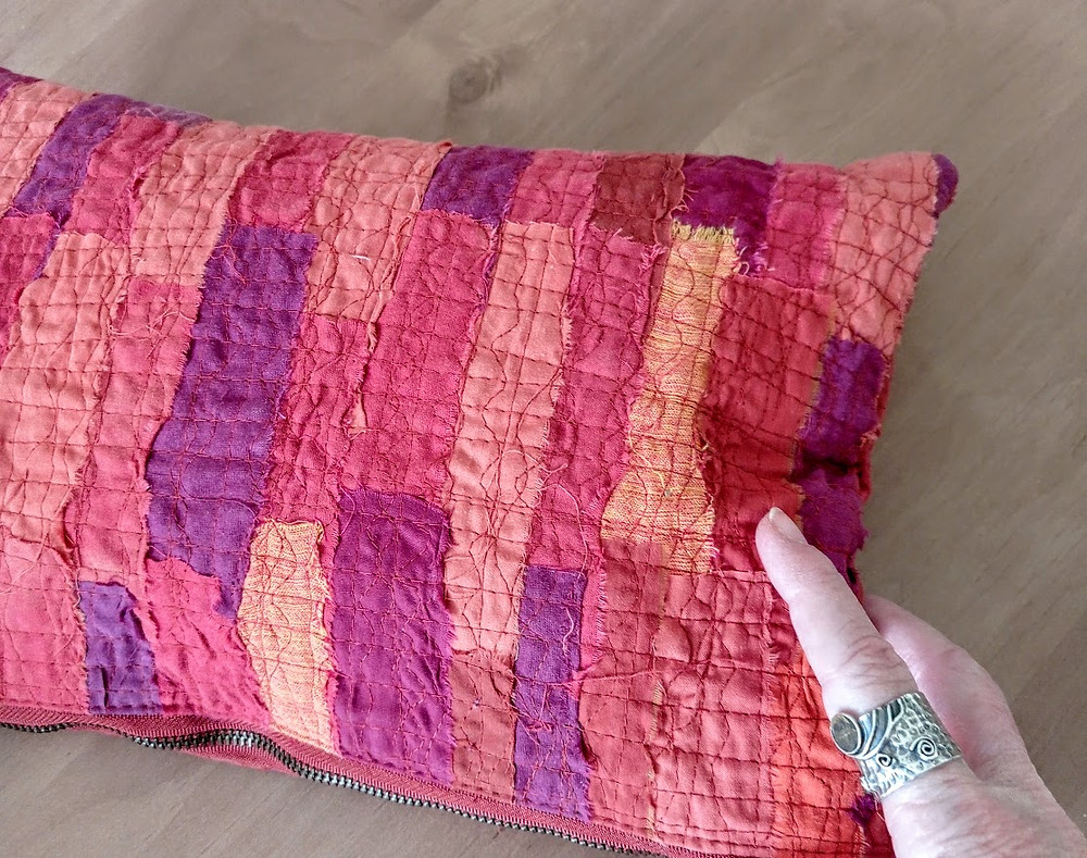 Heavily quilted fabric
