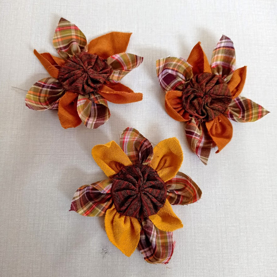 Fabric country sunflowers