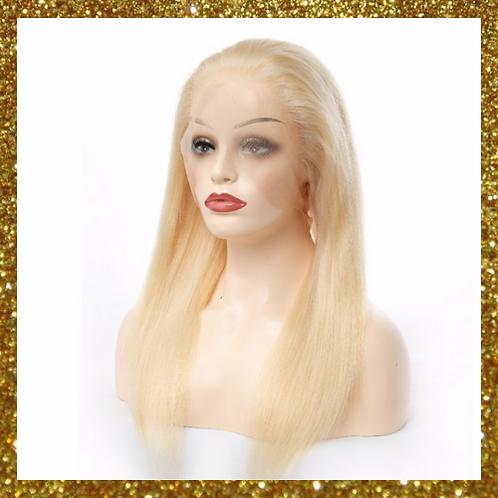 Full Lace Platinum Blonde Straight Wig