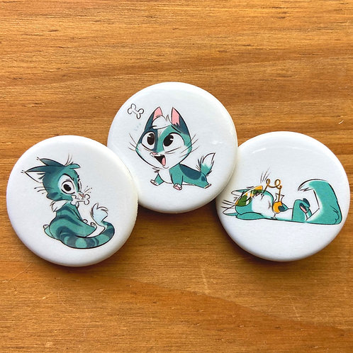 Cat Buttons (Set #1)