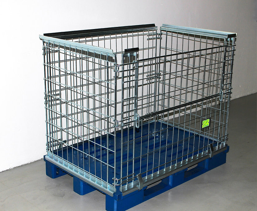Wire Mesh Cage Containers from AGS-Industrial