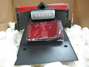 Motorcycle taillight incorporating light emitting diodes