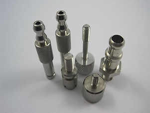 Precision knurled pneumatic components manufactured by AGS-TECH Inc.