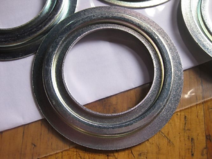 Zinc plated custom precision metal stampings