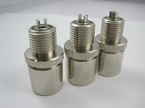 CNC machined, knurled, threaded and assembled components