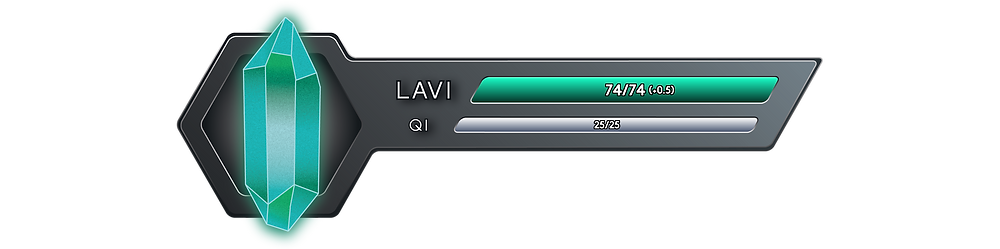 It reads 74 out of 74 Onkh of Lavi, with a net flow of +0.5, and 25 out of 25 Onkh of Qi.