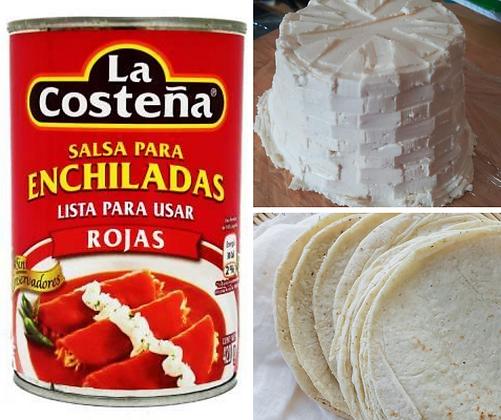 Panela Cheese Enchilada Combo