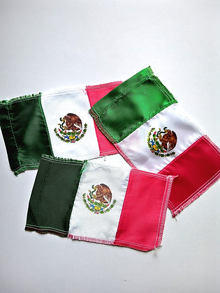 Mexican Flag pack of 3 (18x10.5cm)