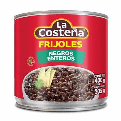 La Costeña Whole Black Beans 400 g