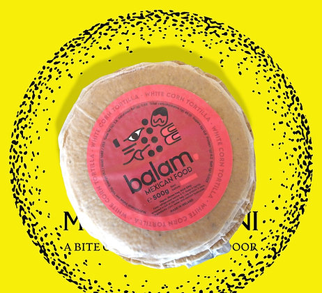 Balam Nixtamilized  White Corn Tortilla
