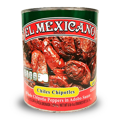 El Mexicano Chipotle Peppers in Adobo Sauce 2.8 Kg