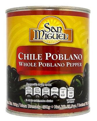 Poblano Pepper whole  780gr