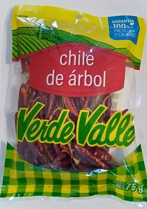 Verde Valle De Arbol Dried Chili Pepper 75g