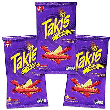 """Takis """"Fire"""" Pack of 3 /68 gr each"""