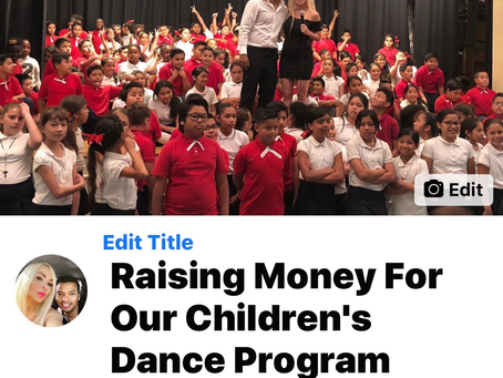 Raising funds for our children's Latin dance program