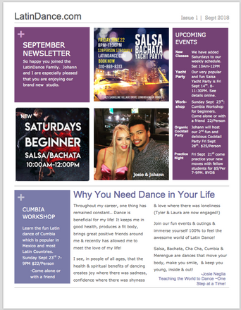 September 2018 Newsletter