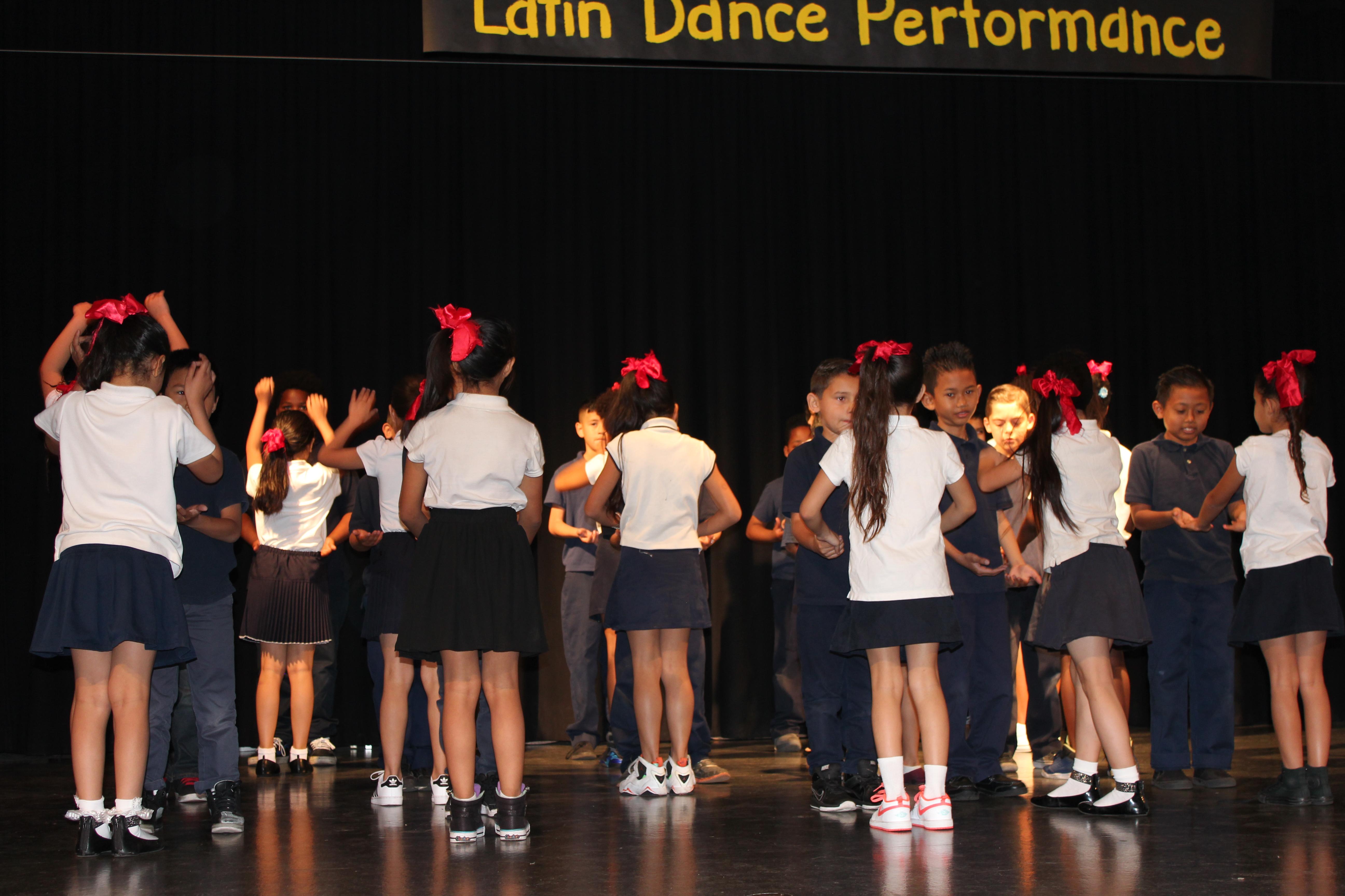3rd Graders Dancing Salsa
