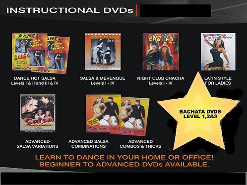 Set of 10 Instructional Latin Dance DVDs