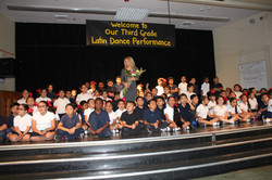 Josie Neglia with 3rd Graders