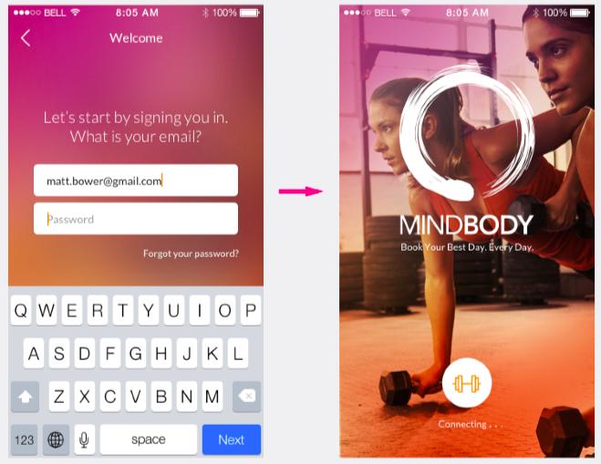 MINDBODY app