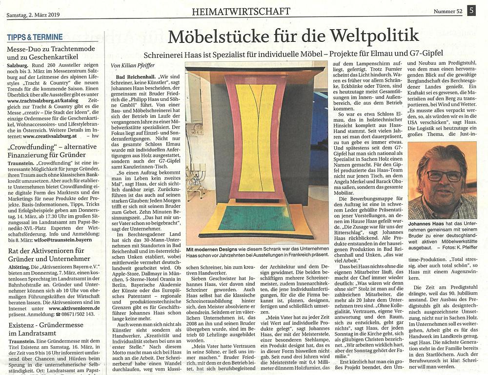 Reichenhaller Tageblatt vom 02.03.2019