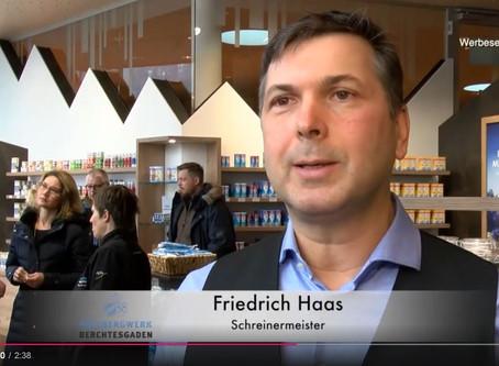 Eröffnung des Salzshops des Salzbergwerk Berchtesgaden