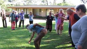 Dancing emu