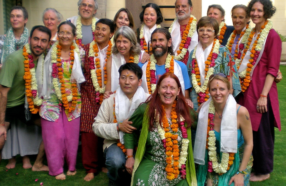 Pilgrims with Pasang ( our Tibetan friend and guide )