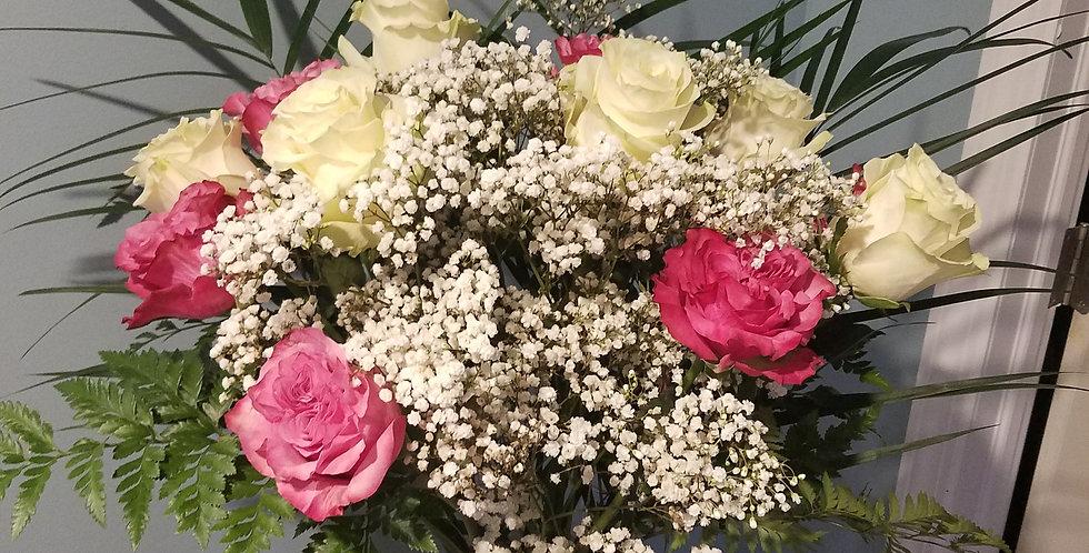 Vased Sympathy roses