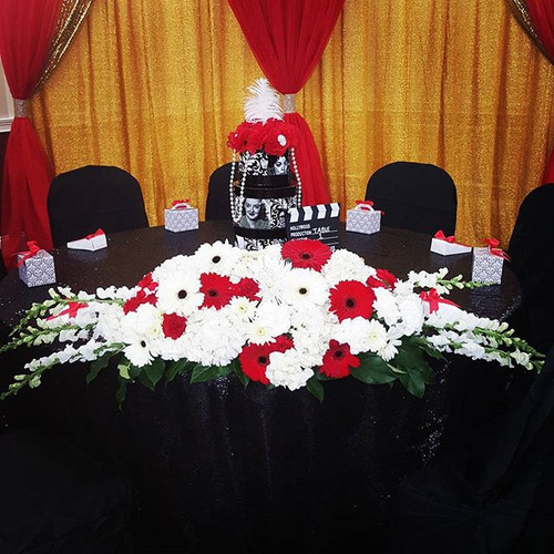 Dais for birthday party! Great job on th