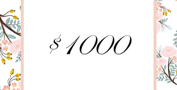 $1000 Deposit